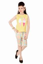 Flower Girl Girls 2pcs Set ,Yellow/Multicolor-MCG839