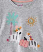 Smart Baby Baby Girls T-shirt With Capri Set , White/Peach - SNGS2035254
