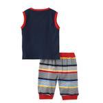 Smart Baby Baby Boy T-Shirt With Capri Set,Navy/Multi - SNGS2035017