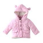 Rock a Bye Baby Baby Girl Duffle Coat , Pink - JCGS19566