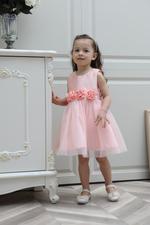 Smart Baby Baby Girl Party Dress , Peach - GEGS21DG8088