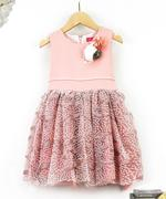 Le Crystal Girl Party Dress , Pink - GEGS21DG6673