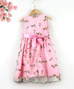 Le Crystal Girl Party Dress , Pink - GEGS21DG6669