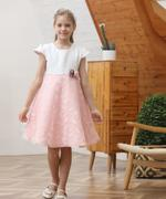 Le Crystal Girl Party Dress , White/Pink - GEGS21DG6664
