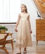 Le Crystal Girl Party Dress , Beige - GEGS21DG6660