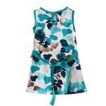 Flower Girl Girls Dress,White&Sea Green,SIMGS20GFR026