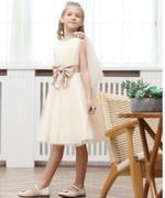 Le Crystal Girl Party Dress , Beige - GEGS21DG8056