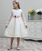Le Crystal Girl Party Dress , Off White - GEGS2120154