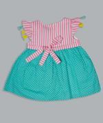 Little Kangaroos Baby Girls Dress , Green/Pink - ROGS2019868A
