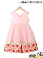 Le Crystal Girls Party Dress , Pink -GEGS21DG8043