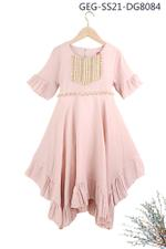Le Crystal Girls Party Dress , Brown - GEGS21DG8084