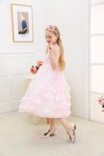 Le Crystal Girls Party Dress , Pink - GEGS21DG8095