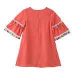 Flower Girl Girls Dress , Peach - GEGDG5504