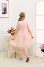 Le Crystal Girls Party Dress , Pink - GEGS21DG8070