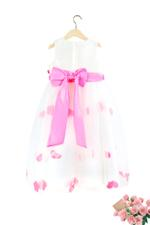 Le Crystal Girls Party Dress , White - GEGS21DG8096