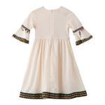 Flower Girl Girls Dress , Beige - GEGDG5581BEIGE