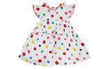 Smart Baby Baby Girls Polka Dots Frock , White - SIMGS21NV6012