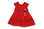 Smart Baby Baby Girls Dress ,Red-SIMGS21NV7020