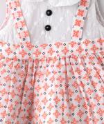 Smart Baby Baby Girls Dress , Peach - SIMGS21NV7035