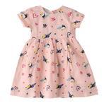 Smart Baby Baby Girls Printed Dress,Peach,KFGS201583P2