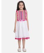 Flower Girl Girls Dress , White/Multi - SIMGNK20C7