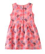 Flower Girl Girls Printed Dress , Peach - MCGSS201590