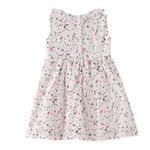 Smart Baby Baby Girls Printed Dress, White - KFGS201552P1