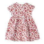 Smart Baby Baby Girls Printed Dress,White/Red,KFGS201584P2