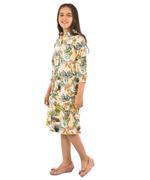 Flower girl Girls Printed Shirt Dress, Multi-KFGAW211908A