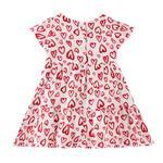 Smart Baby Baby Girls Printed Dress,White/Red - KFGS201551P2