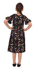 Flower Girl Girl Printed Dress,Black/Multi - KFGS201511P2