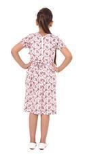 Flower Girl Girl Printed Dress,White/Multi - KFGS201572P3