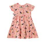Smart Baby Baby Girls Printed Dress,Peach - KFGS201551P1