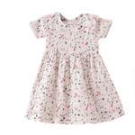 Smart Baby Baby Girls Printed Dress,White - KFGS201582P2