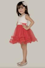 Le Crystal Girls Dress,Red