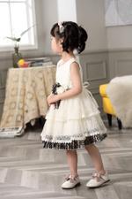 Smart Baby Baby Girls Dress- Beige GEGSS2020133