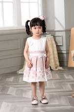 Smart Baby Baby Girls Dress- Pink/White GEGSS2020127