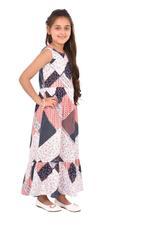 Flower Girl Girls Printed Dress,Multi -KFGS201537P2