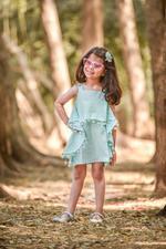 Flower Girl Girls Summer Dress ,Sea Green, SIMGS20GC50