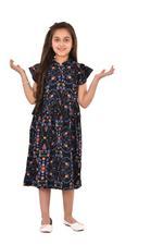 Flower Girl Girls Printed Dress,Multi -KFGSS201522