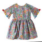 Flower Girl Girls Summer Dress ,Multicolor, SIMGS2019C72