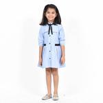 Flower Girl Girls Summer Dress ,Light Blue, SIMGS2019C73