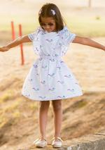 Flower Girl Girls Summer Dress ,Light Blue, SIMGS2019C52