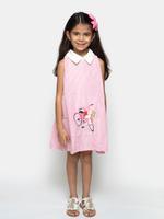 Flower Girl Girls Summer Dress ,Pink/White, SIMGS20GC25