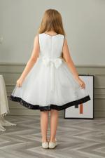Le Crystal Girls Party Wear Dress,White,GEGSS2020147