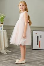 Le Crystal Girls Party Wear Dress,Peach,GEGSS2020168