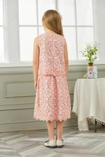 Le Crystal Girls Party Wear Dress,Pink,GEGSS2020138