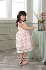 Le Crystal Girls Party Wear Dress,Pink,GEGSS2020172
