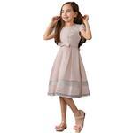 Le Crystal Girls Dress, Peach GEG1801032-GEG1801032