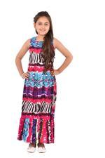 Flower Girl Girls Printed Dress,Multi -KFGS201537P1